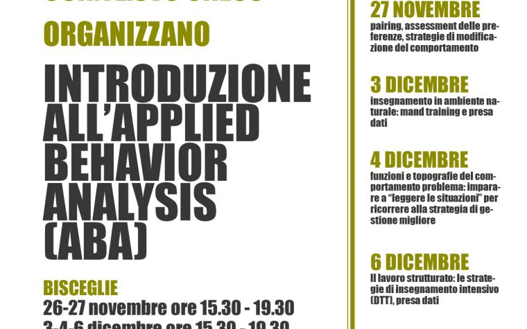 Introduzione all'Appled Behavior Analysis (ABA)