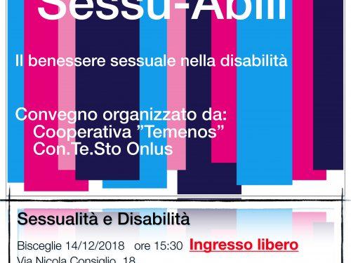 """Diversamente """"Sessu-Abili"""", Il Benessere sessuale nella disabilità"""