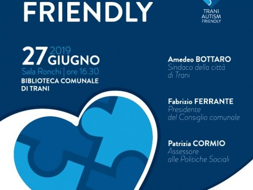 """TRANI CITTÀ AUTISM FRIENDLY"""