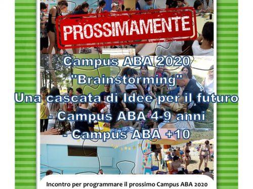 """""""Brainstorming"""" una cascata di idee per il Campus ABA Estate 2020"""